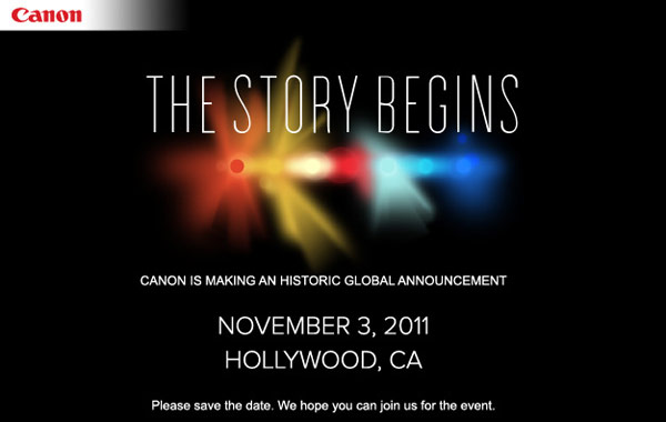 Canon - The Story Begins on November 3, 2011