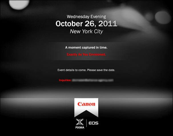 Canon October 2011 Annoucement