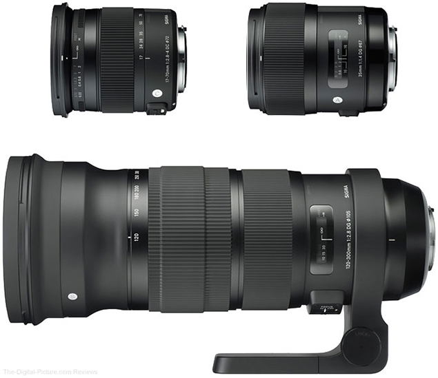New Sigma Contemporary, Art, & Sports Lenses