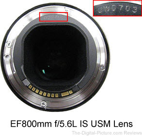 Canon EF 200mm f/2 L IS and EF 800mm f/5.6 L IS Service Notice