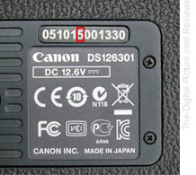 Canon EOS-1D X Service Notice Serial Numbers