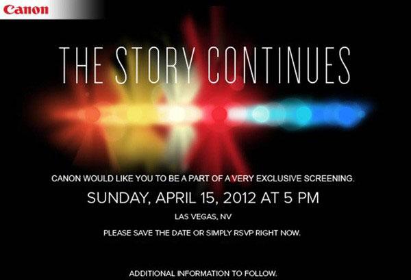 Canon Event Invitation - 2012/04/15