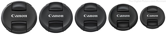 Canon Mark II Center-Pinch Lens Caps