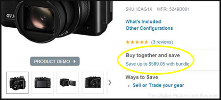 Canon G1 X Package Deal Screenshot