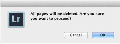 Lightroom Dialogue Box Warning