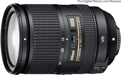 Nikon 18-300mm f/3.5-5.6G ED AF-S DX VR Nikkor Lens