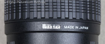 Tamron Lens Fake Serial Number Sticker