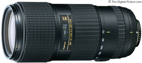Tokina AT-X 70-200mm f/4 PRO SD IF FX Lens