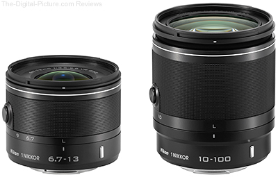 1 NIKKOR 6.7-13mm f3.5-5.6 VR and 1 NIKKOR 10-100mm f4.0-5.6 VR