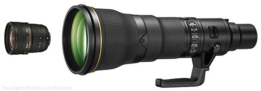 Nikon AF-S NIKKOR 18-35mm f/3.5-4.5G ED and Nikon AF-S NIKKOR 800mm f/5.6E FL ED VR