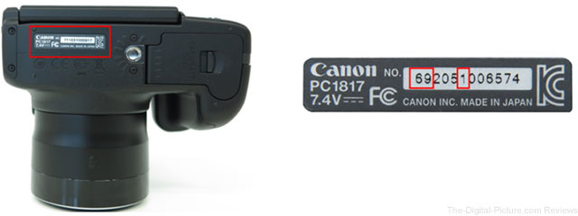 Canon PowerShot SX50 HS Digital Camera Safety Recall Serials