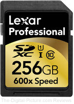 Lexar SDXC 256GB 600x Memory Card