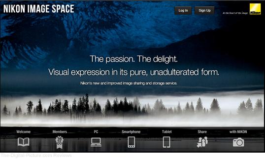 Nikon Image Space Homepage