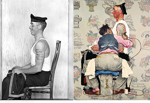 Norman Rockwell Photograph and Painting