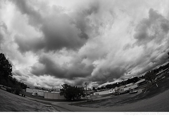 Rokinon 8mm Fisheye Clouds Example