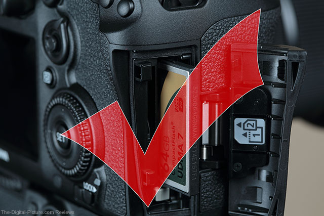 Canon EOS 7D Mark II with Memory Card Inserted Correctly