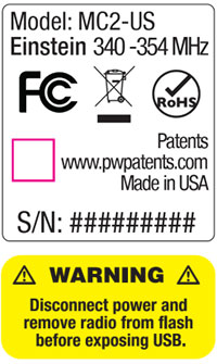 Pocketwizard Power MC Safety Notice 3