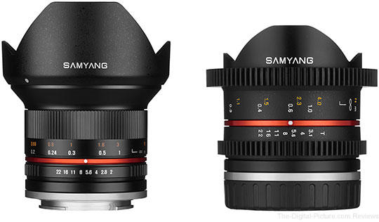 Samyang 12mm and 8mm Lens Announcements