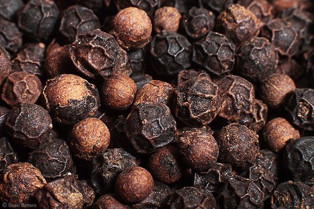 Black Peppercorns Macro