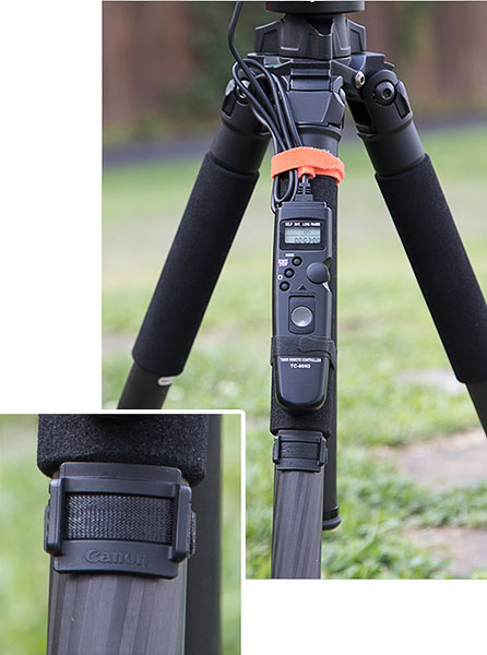 Canon Eyepiece Cover and Timer Remote Solution: Cable Ties