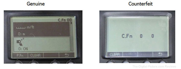 Canon Speedlite 600EX RT Counterfeit LCD