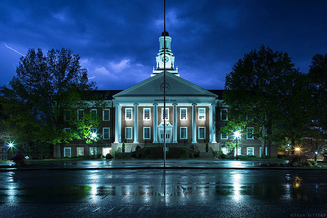 Lightning over Derryberry Hall
