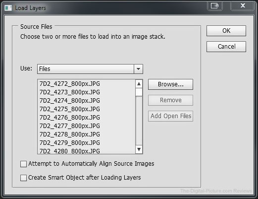 Photoshop Load Images Into Stack