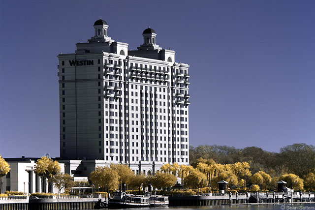 Westin Savannah Harbor in Super Color IR
