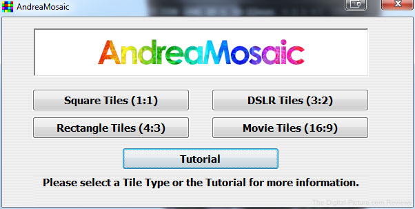 Andrea Mosaic Start Screen