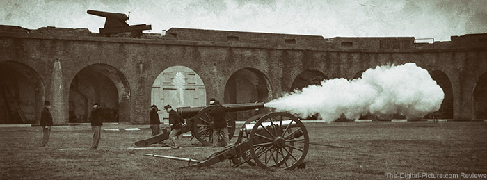 Cannon Firing at Fort Pulaski Miops Trigger