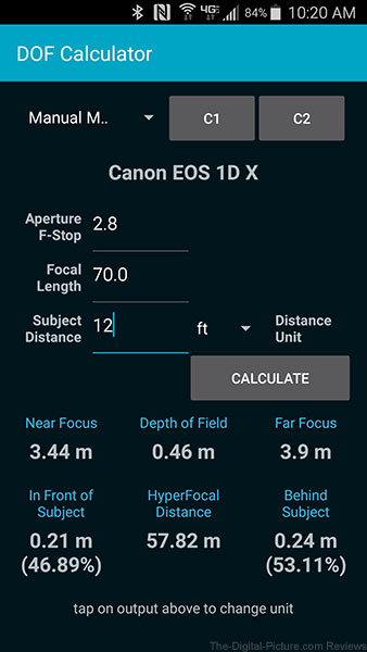 DOF Calculator for Android