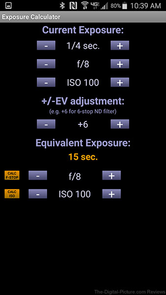 Exposure Calculator Android