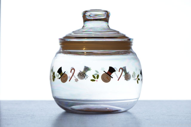 Glowing Christmas Jar TDP Not Polarized
