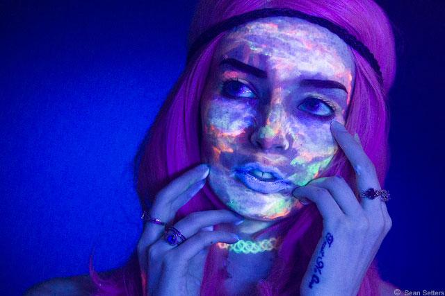 Kim Black Light Portraiture 2