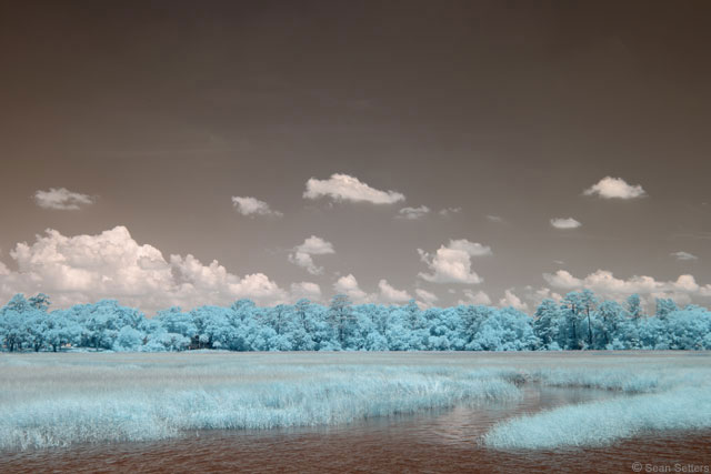 Wilmington River in Super Color IR Auto Levels Only