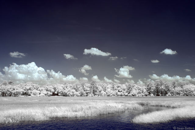 Wilmington River in Super Color IR Desaturated Yellows