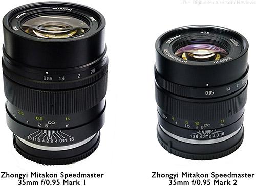 Zhongyi Optics Speedmaster 35mm f 0.95 Comparison