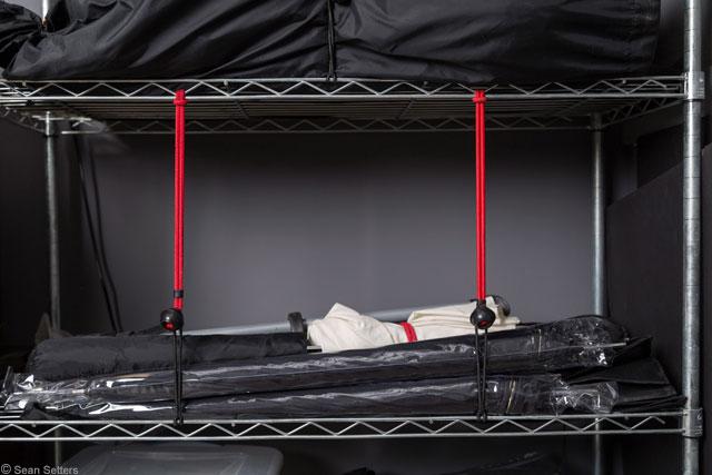 Bungee Straps Securing Shelf