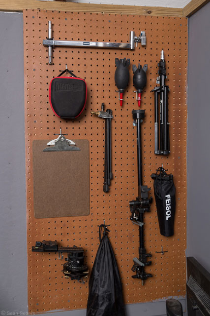 Pegboard Organizer for Photography Gear