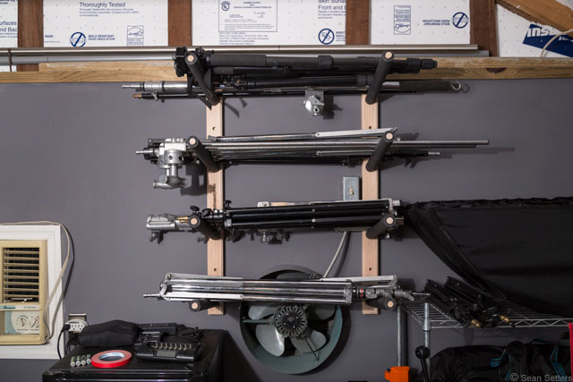 Snowboard Rack for Lightstands