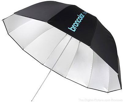 Broncolor Focus 110 Silver Black Umbrella