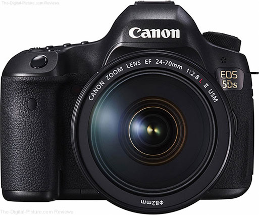 Canon EOS 5Ds Front with 24 70mm Lens