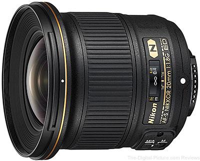 Nikon AF S NIKKOR 20mm f 1.8G ED Lens
