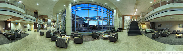Rokinon 14mm Pano Example Hospital Lobby