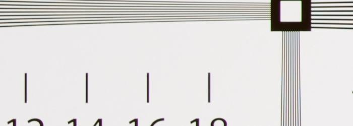 Nikon AF-S 85mm F1.8G 解像力チャート