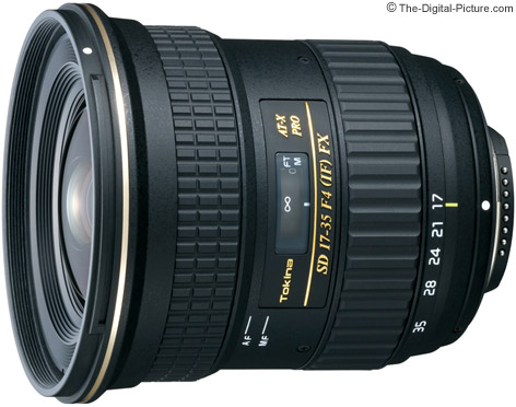 Tokina 17-35mm f/4 AT-X Pro FX Lens