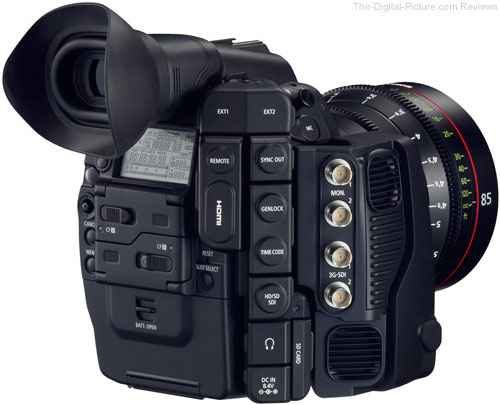 Canon Cinema EOS C500 Digital Cinematography Camera - Rear Angle View