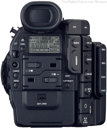 Canon Cinema EOS C500 Digital Cinematography Camera - Rear View