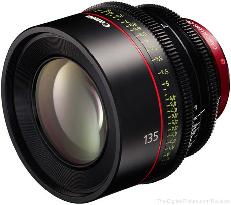Canon EF 135mm T2.2 Cinema Prime Lens