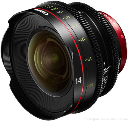 Canon EF 14mm T3.1 Cinema Prime Lens